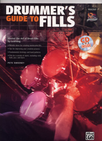Drummer's Guide to Fills book and CD by Pete Sweeney from Alfred Publishing