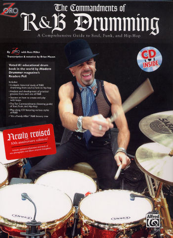 Commandments of R&B Drumming Book/CD by Zoro from Alfred Publishing
