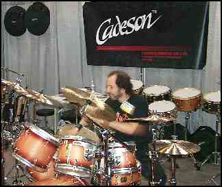 Tiger Bill checks out Cadeson drums