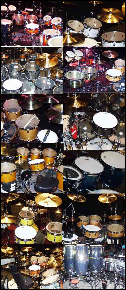 Drums played by the pros during the Modern Drummer Festival Weekend 2002.