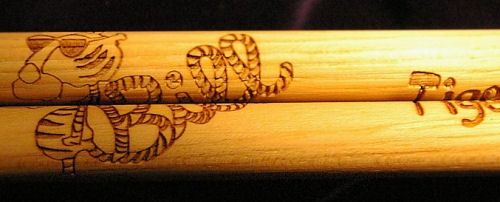 Click for a chance to win a pair of custom drumsticks engraved with YOUR NAME and the Tiger Bill Logo!
